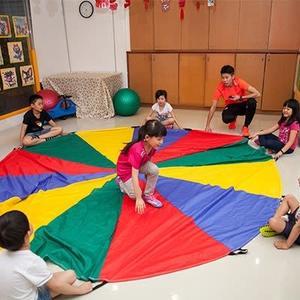 【ISPORT 台灣製 體能教具】6M 彩虹氣球傘