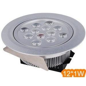 LED崁燈 專賣店每入1050 天花燈12*1W 圓形天花燈LED天花板燈天花板燈 12W LED節能燈體
