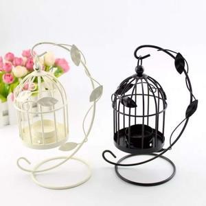 創意圓形燭台,永生花鳥籠,綠葉款