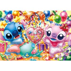 【拼圖總動員 PUZZLE STORY】Happy Birthday! 日系/Tenyo/迪士尼/史迪奇/200P/相框拼圖