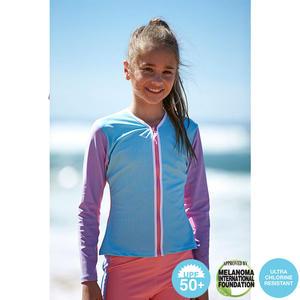 澳洲鴨嘴獸精品兒童泳衣 防曬長袖夾克 ★雪酪系列系列★ UPF 50+ 抗UV (小女4-8歲)