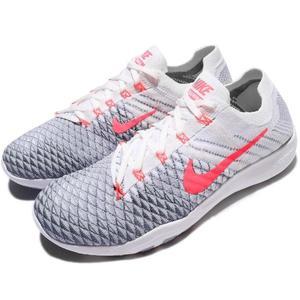 【五折特賣】Nike 訓練鞋 Wmns Free TR Flyknit 2 白 灰 漸層 粉紅 女鞋 【PUMP306】 904658-100