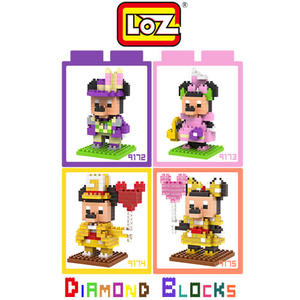 LOZ 迷你鑽石小積木 迪士尼 紀念版 米奇 米妮 樂高式 組合玩具 益智玩具 原廠正版
