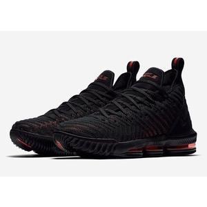 ISNEAKERS NIKE LEBRON XVI (GS) 16代 大童鞋 籃球鞋 AQ2465-002 黑紅