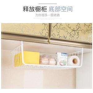 櫥房置物架冰箱收納架大號多功能廚櫃廚房家用吊櫃下掛籃掛架
