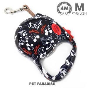 【PET PARADISE 寵物精品】DISNEY 米奇滿版伸縮拉繩/M號《4m》伸縮牽繩