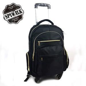 拉桿旅行後背包 SPYWALK專利可拆式防水斜紋布360度大輪拉桿電腦流行後背包 加大款 NO:S8037