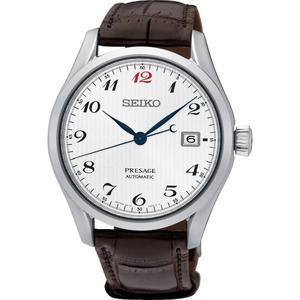 【台南 時代鐘錶 SEIKO】精工 Presage 經典機械錶 SPB067J1@6R15-03N0J 皮帶 白/咖啡 40mm