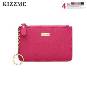 【喜番屋】KIZZME真皮十字紋牛皮女士皮夾皮包零錢包卡片包卡片夾卡包女夾【KI110】