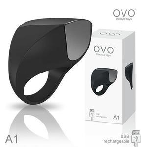99購物 滿490元免運費 德國OVO A1 時尚男性 矽膠靜音時尚震動環 充電式