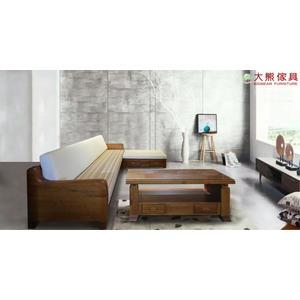【大熊傢俱】162L型 實木沙發 布沙發 柚木組椅 柚木沙發 實木組椅 實木傢俱