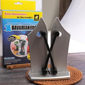 現貨 帶座磨刀石多功能廚房必備便捷快速開刃磨刀神器輕巧省力 快速出貨