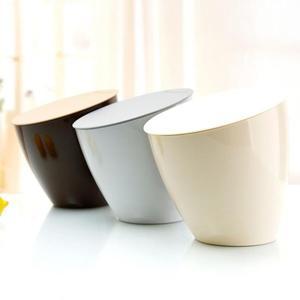 斜口桌面垃圾桶北歐創意桌上收納桶家用廚房迷你小號垃圾桶