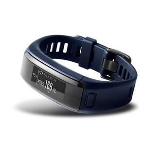 【綠蔭-免運】GARMIN vivosmart HR iPass (一卡通) 腕式心率智慧手環,都市藍