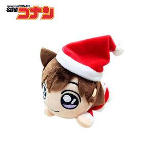 【日本正版】毛利蘭 趴姿造型 玩偶吊飾 聖誕節裝扮 名偵探柯南 絨毛玩偶 吊飾 SEGA - 088341
