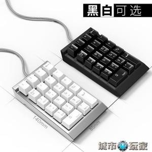 鍵盤 機械數字小鍵盤 財務會計筆記本電腦外置有線USB青軸 數字小鍵盤 城市玩家