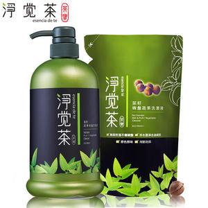 茶寶淨覺茶 茶籽蔬果碗盤洗潔液2件超值組(瓶+包) 【屈臣氏】