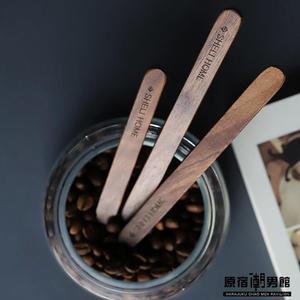 創意 黑胡桃 實木 長柄 咖啡 奶茶 攪拌棒 家用 咖啡 攪拌勺 甜品勺子