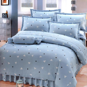 台灣製-清新日和 單人(3.5x6.2呎)五件式鋪棉床罩組-灰藍色[艾莉絲-貝倫]T5H-KF2640-BU-S