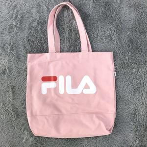 FILA 單肩包 帆布包 側背包 粉紅 韓妞