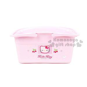 〔小禮堂〕KITTY 置物提籃《大.粉紅.草莓》8805396-13001