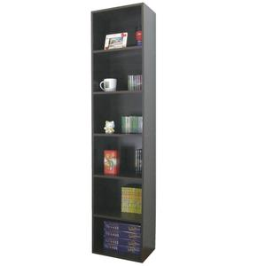 六層間隙書櫃 收納櫃 置物櫃(寬40x深30.3x高180/公分)防潮書櫃-深咖啡色 MIT台灣製W406T-CF