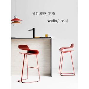 北歐吧椅不銹鋼吧臺椅家用高腳凳簡約酒吧椅咖啡廳高腳椅創意現代