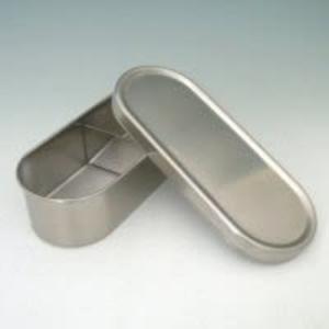 日本工藝【AIZAWA/相澤工房】經典不鏽鋼便當盒570ml附束帶 J-01-AZK-027