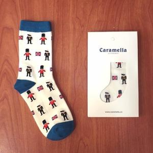 日本Caramella英國小士兵中筒襪♥️ 短襪子 卡通士兵 個性 復古 阿華有事嗎
