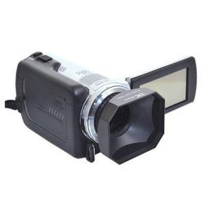 又敗家JJC方形46mm螺口遮光罩螺牙DV遮光罩Panasonic Lumix G 20mm F1.7 X Vario PZ 45-175mm