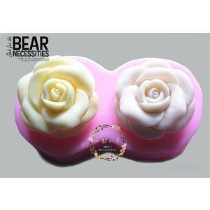 心動小羊^^DIY手工皂工具矽膠模具肥皂香皂模型矽膠皂模藝術皂模玫瑰花(2孔)