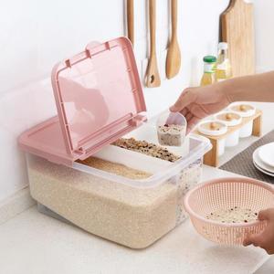 塑料分隔裝米桶防蟲儲米箱12KG廚房密封防潮米箱大米收納箱