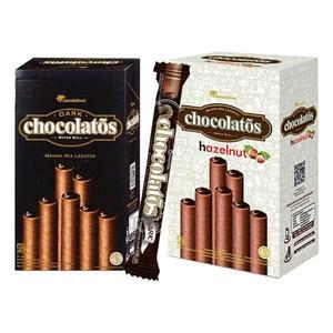 印尼 黑雪茄巧克力威化捲(16gx20支入) 巧克力/榛果巧克力口味【小三美日】零嘴/團購