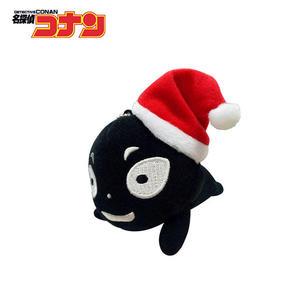 【日本正版】犯人 趴姿造型 玩偶吊飾 聖誕節裝扮 名偵探柯南 絨毛玩偶 吊飾 SEGA - 088593