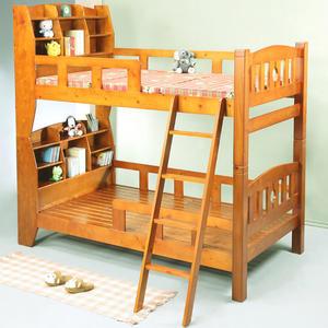 《百嘉美》歐尼爾3.5呎書架型實木雙層床 BE2205 單人加大 兒童床 電腦桌 辦公桌 電腦椅
