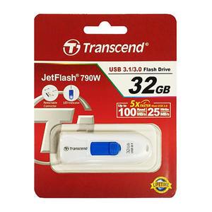 創見32G USB3.1伸縮隨身碟白TS32GJF790W