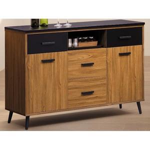 櫥櫃 餐櫃 FB-345-2 肯詩特淺柚木色4尺石面碗櫃【大眾家居舘】