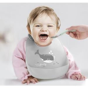寶寶圍兜寶寶吃飯圍兜矽膠嬰兒童立體防水餵食飯兜圍嘴超軟小孩口水兜免洗 朵拉朵