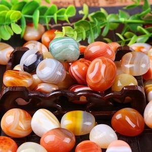 雨花石原石月牙瑪瑙石天然石頭魚缸彩石水族園藝造景 萬客城
