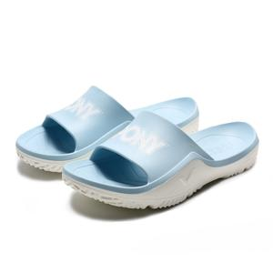 PONY 粉藍 白 白LOGO 防水 膠拖 拖鞋 男女 (布魯克林) 2019/05月 92U1FL07PB