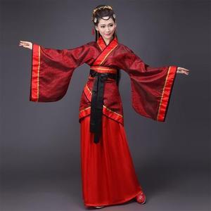 表演服 演出服 古裝服裝仙女清新淡雅漢服女風成人古代衣服 糖果时尚