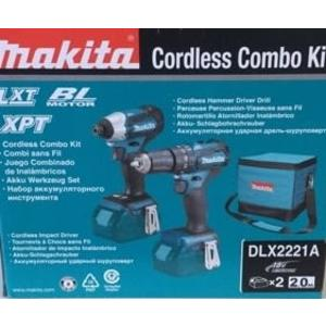 牧田 makita  DLX2221A  18V 無刷雙機組DTD155+DHP483起子機+震動電鑽