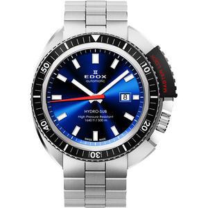 EDOX Hydro Sub 北極潛水500米機械腕錶-藍/46mm E80301.3NM.BUIN
