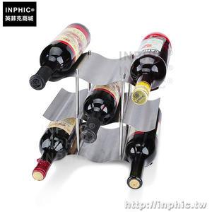 INPHIC-洋酒架家居不鏽鋼紅酒酒架三層吧台酒架酒具紅酒架飾品架_fchM