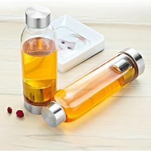 ✭慢思行✭【G09】可泡茶隨身玻璃瓶550ML 彩色隨身杯 玻璃杯 方便攜帶 有杯套防燙手