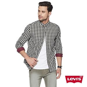 Levis 格紋襯衫 男裝 / 雙面穿