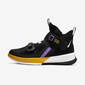 Nike Lebron Soldier XIII 13 SFG [AR4228-004] 男鞋 籃球 緩震 湖人 黑黃紫