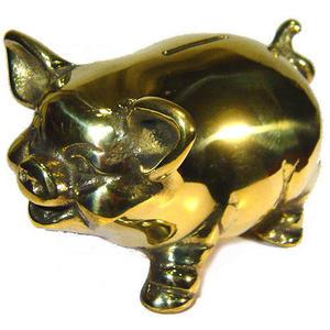 金存錢豬 豬銅雕(撲滿)存錢筒