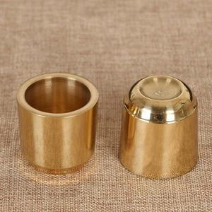財神爺供酒杯純銅供佛聖水杯凈水杯供奉神明小茶杯光身銅供杯貢杯 至簡元素