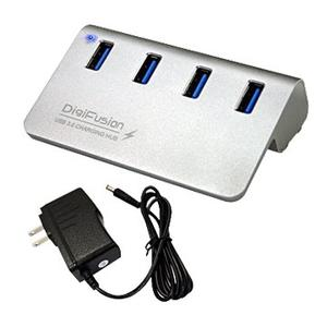 [富廉網] 伽利略 Digifusion U3H04FC USB3.0 4埠含變壓器 HUB 鋁合金